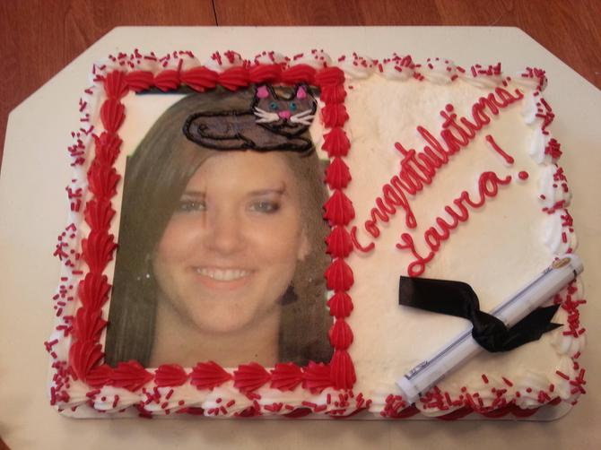 Graduation Cat Cake FAIL