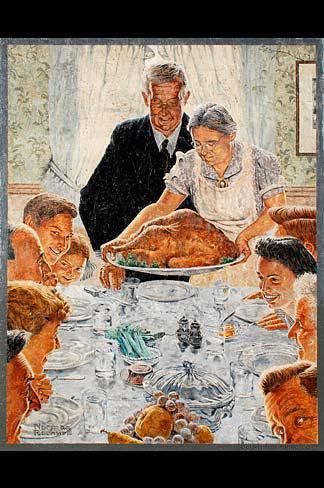 Norman Rockwell Thanksgiving Dinner