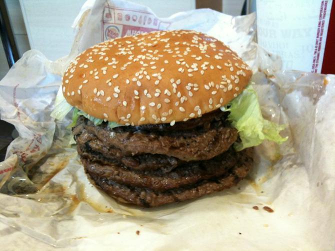 Image of huge hamburger