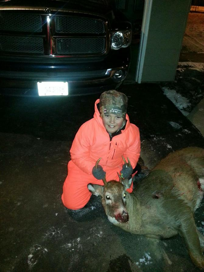 This 12 year old is all smiles after he shot his first ...