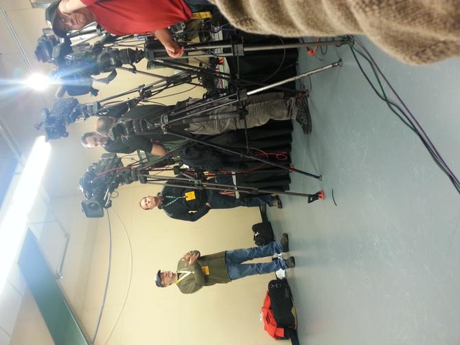 usually in the interview room of the visiting media room