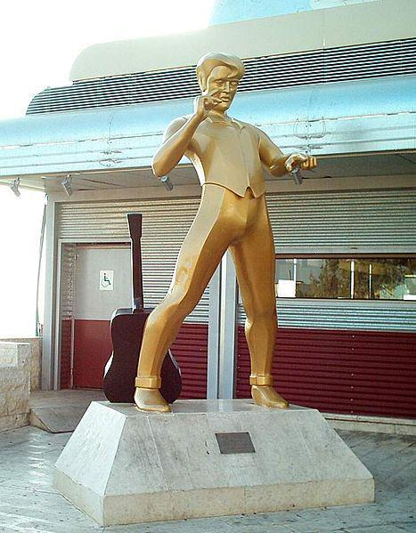 "Statue of Elvis Presley at ""The Elvis Inn"" at Neve Ilan, Israel"