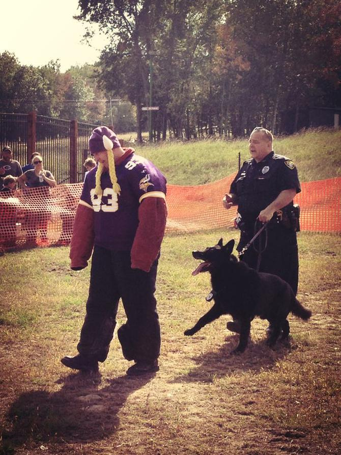 K9 paws enforcing laws demo at granite peak on saturday
