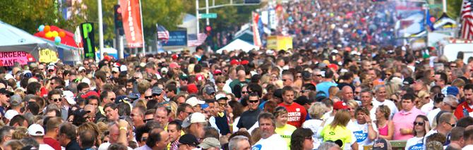 big crowds invaded appleton s octoberfest on september 28th where