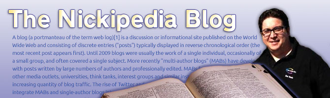 The Nickipedia Blog
